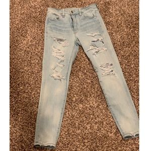 American Eagle Super Hi-Rise Jegging Crop Size 4